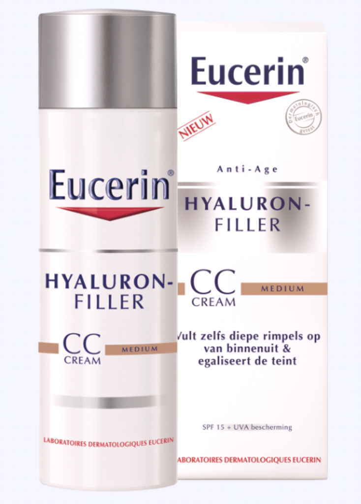 drogisttop eucerin hyaluronfiller cc cream medium 50ml van eucerin teint. Black Bedroom Furniture Sets. Home Design Ideas