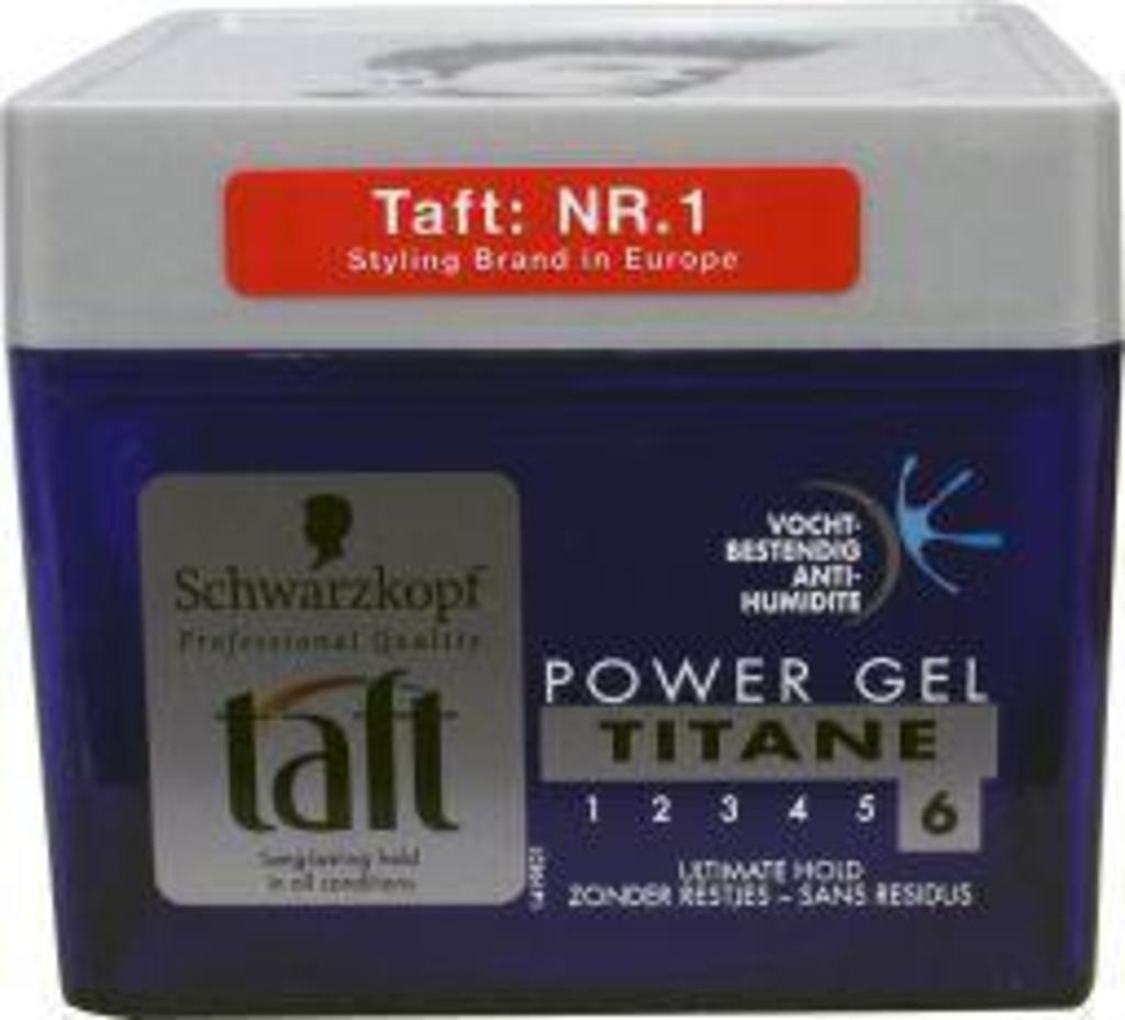 drogisttop schwarzkopf taft gel power titane sterkte 6